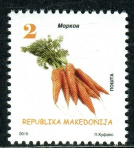 197 - MACEDONIA 2015 - Vegetables - Red Carrot - MNH Set