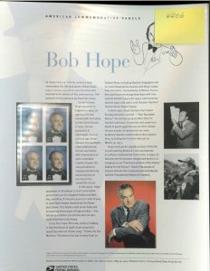USPS COMMEMORATIVE PANEL #836 BOB HOPE #4406