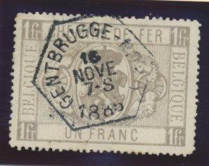 Belgium Stamp Scott #Q6, Used