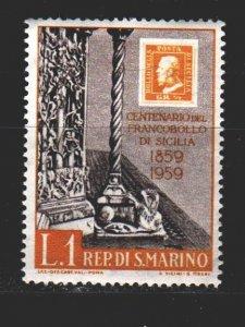 San Marino. 1959. 627. Stamps on stamps. MNH.