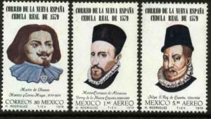 MEXICO 1192,C618-20 400th A Royal Proclamation mail serv MNH