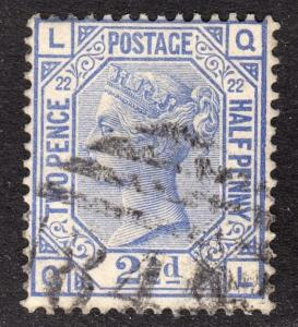 Great Britain Scott 82 plate 22  F to VF used.