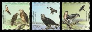 Karabakh Armenia 2015 birds of prey set of 3v MNH