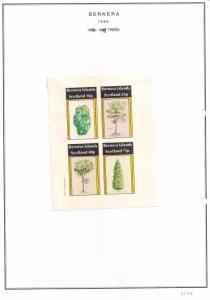 SCOTLAND - BERNERA - 1982 - Trees - 4v Imperf Sheet - MLH