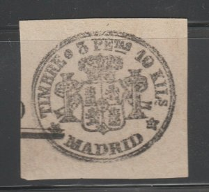 Spain fiscal revenue stamp 3-23-21 Spain no gum  older Madrid