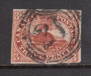Canada #4c Used With Ideal 4 Ring 21 Cancel
