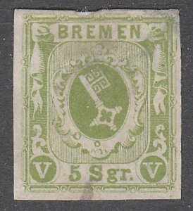 GERMANY BREMEN  An old forgery of a classic stamp...........................C198