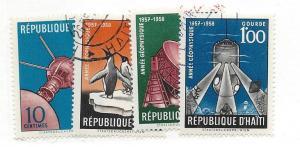 Haiti, 424-27,  Intl Geophysical Year 1958 CTO Singles, NH