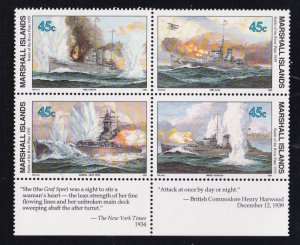Marshall Islands 239-245, MNH Blocks of 4, With Selvage - WW2