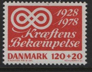 DENMARK B57, MNH, 1978 Anti cancer campaign