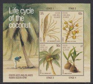 Cocos Islands 173-6 Coconut SS mnh