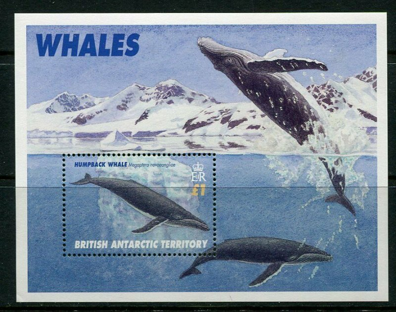 B.A.T. MNH S/S 248 Humpback Whale Marine Life 1996