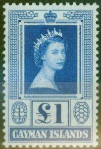 Cayman Islands 1959 £1 Blue SG161a V.F MNH