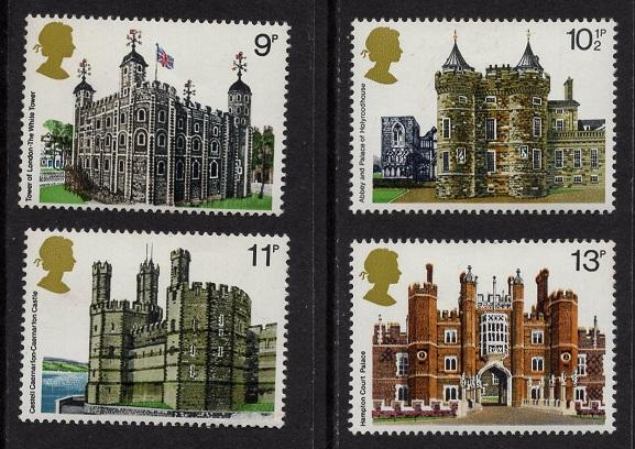 Great Britain  #831-834   MNH  1978 historic buildings