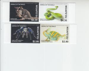 2019 Niuafo'ou Animals 2 Pr  (Scott NA) MNH