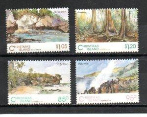 Christmas Island 350-353 MNH