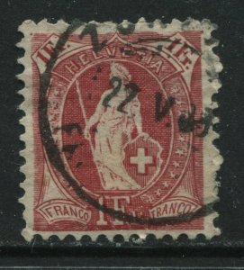 Switzerland 1903 1 franc carmine CDS used