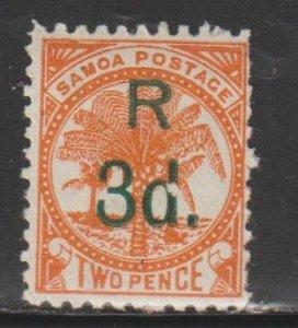 Samoa  SC   25  Mint  Hinged