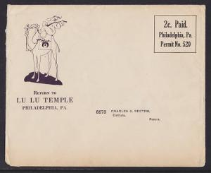 US 1924 2c Lu Lu Temple of Philadelphia Cover, Musician