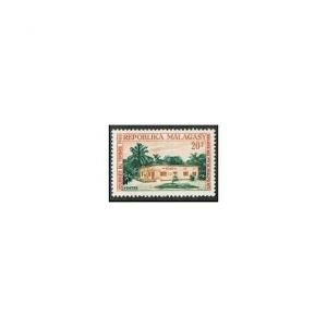 Malagasy 366 two stamps,MNH.Michel 533. Stamp Day 1965.PTT receiving station.