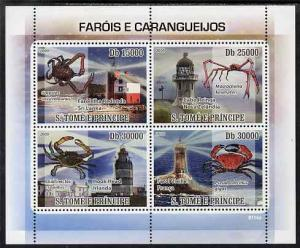 St Thomas & Prince Islands 2009 Lighthouses & Crabs perf ...
