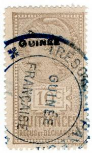 (I.B) France Colonial Revenue : Guinea Quittances 10c