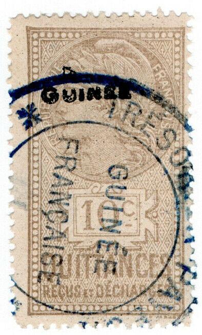 (I.B) France Colonial Revenue : Guinea Quittances 10c