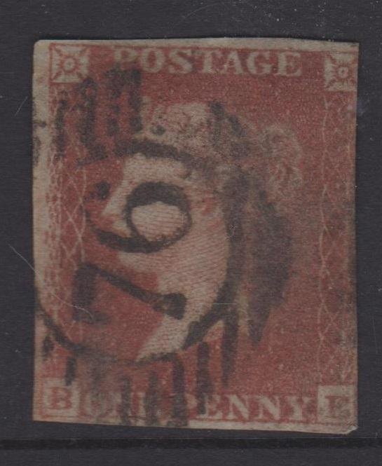 Great Britain 1841 QV 1d Red Brown Sc#3 Imperf Used BE