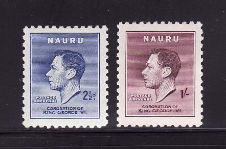 Nauru 37-38 MHR King George VI