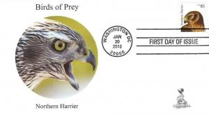 Birds of Prey First Day Cover, w/ 4-bar cancel,  #3 of 6
