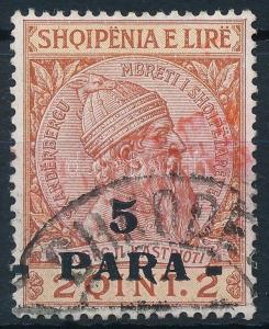 Albania stamp Shkodra Skanderbeg overprinted stamp Used 1914 WS236257
