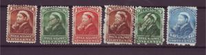 J16404 JLstamps old canada bill stamps queens 3 mh, 3 used #