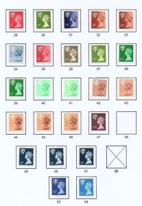 COLLECTION OF UNMOUNTED MINT SCOTLAND REGIONALS ON 3 PAGES