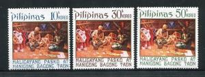 Philippines 1175-1177, MNH,1972. Christmas Lantern Makers, by Jorge Pineda