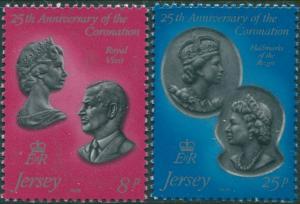 Jersey 1978 SG195-196 QEII Coronation set MNH