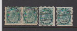 CANADA QUEEN VICTORIA -NUMERAL ISSUE #75 STAMPS USED LOT#306