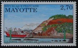 Mayotte 1998 #92 MNH. Port, ship
