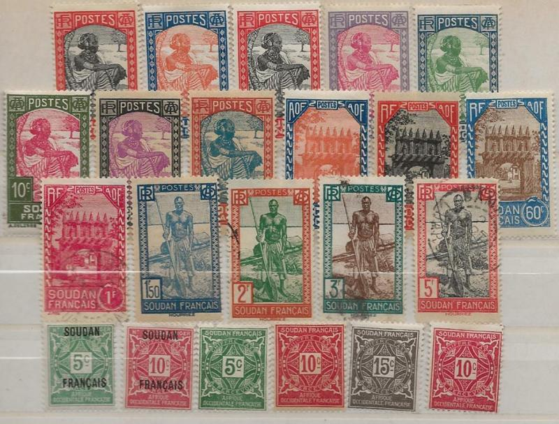 French Sudan 21//49 16 different plus BOBs [M/U]  willmer [cd27]