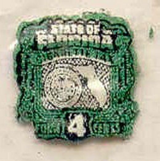 Florida State Revenue Stamp 4c Cigarette Tax # C3