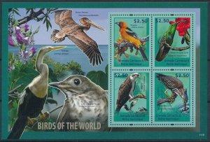 [108776] Carriacou & Petite Martinique 2011 Birds Heron Pelican Mini sheet MNH