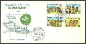 1973 Samoa Islands Sisifo Boy Scout FDC