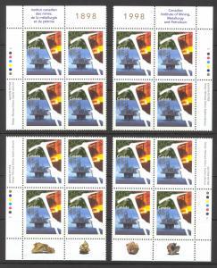 Canada Sc# 1721 MNH PB Set/4 1988 45¢ Oil Rig