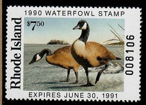 RI2 Rhode Island #2 MNH State Waterfowl Duck Stamp - 1990 Canada Goose