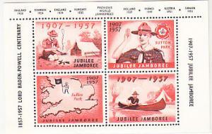 UK - Souvenir Sheet for 1957 Jamboree at Sutton Park