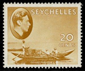 SEYCHELLES GVI SG140b, 20c brown-ochre, M MINT. ORDINARY