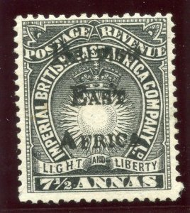 British East Africa 1895 QV 7½a black MLH. SG 41. Sc 46