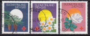 Finland 1988 Festivals - Red Cross Surtax Complete Used Set SC B238-B240