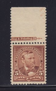 270 VF-XF OG mint never hinged with nice color cv $ 110 ! see pic !