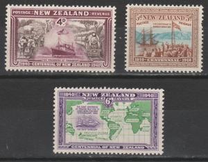 NEW ZEALAND 1940 CENTENARY 4D 5D AND 6D