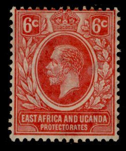 EAST AFRICA and UGANDA GV SG46a, 6c scarlet, M MINT. Cat £25.